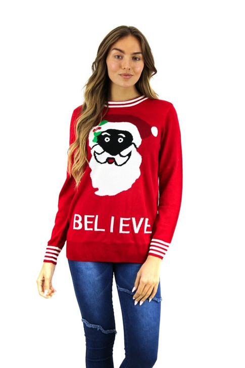Red Believe Christmas Sweater 15pcs