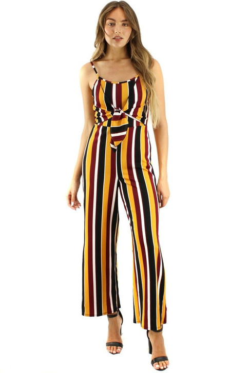 Red Line Tank Tie Jumpsuit 6pcs