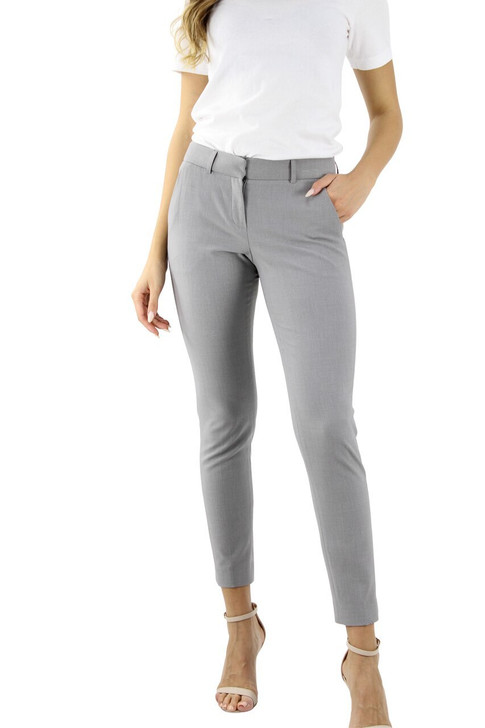 Gray Crease Line Alanis Belt Loop Straight Pant 9pcs