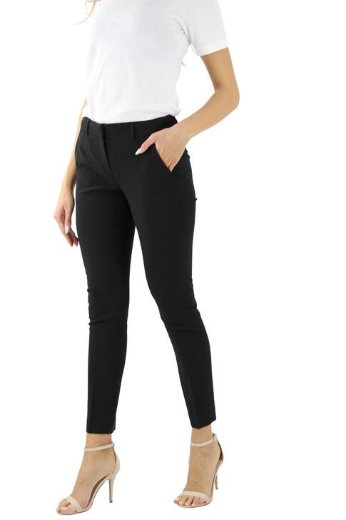 Black Crease Line Alanis Belt Loop Straight Pant 10pcs
