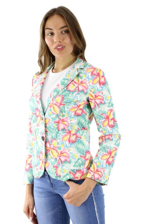 Floral Single Breasted Cotton Blazer 6pcs