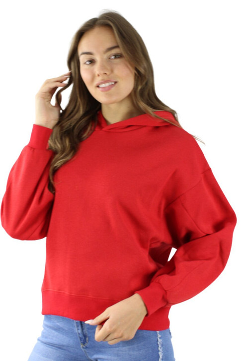 Red Cotton Hoodie with Extra Sleeve Seam 6pcs