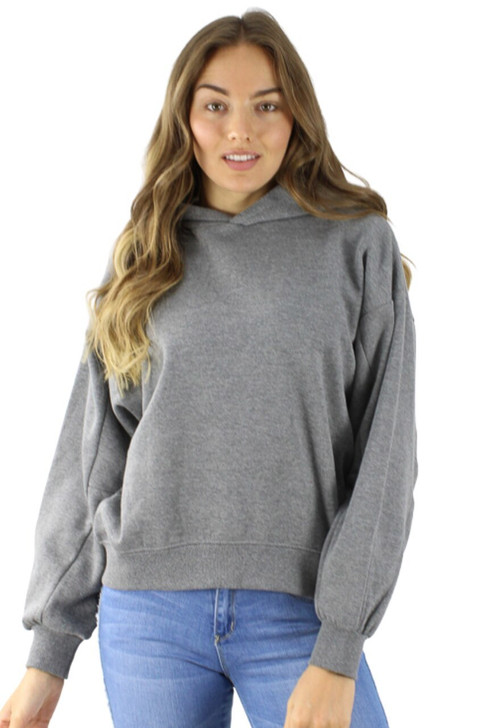 Gray Cotton Hoodie with Extra Sleeve Seam 6pcs