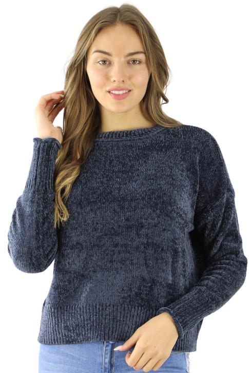 Navy Polyester Sweater 6pcs