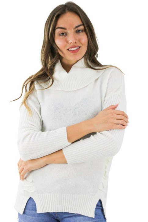 Ivory Acrylic Decorated Sweater 6pcs