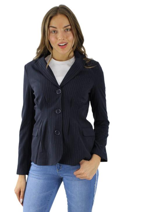 Pinstripe Noir Single Breasted Jacket 6pcs