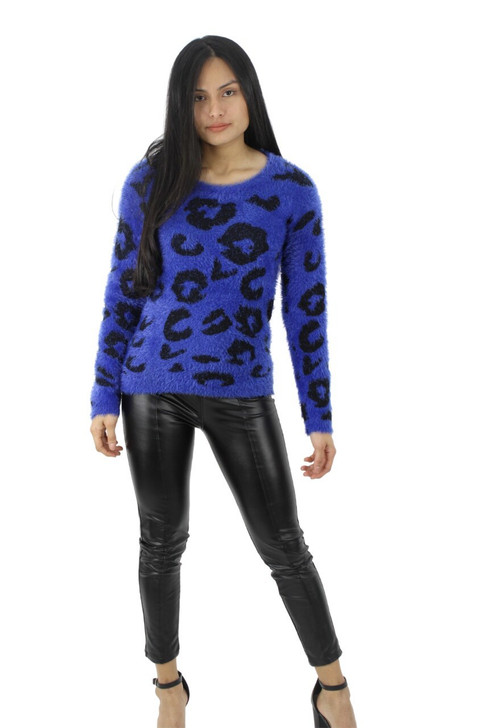 Blue Hairy Winter Sweater 6pcs