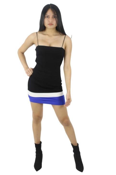 Open Back Spaghetti Strap Bodycon Sexy Mini Dress 6pcs