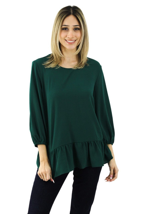Green Open Back Blouse 8pcs