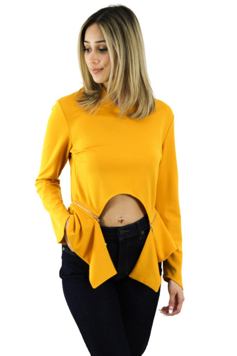 Show them your belly Mustard Blouse 6pcs