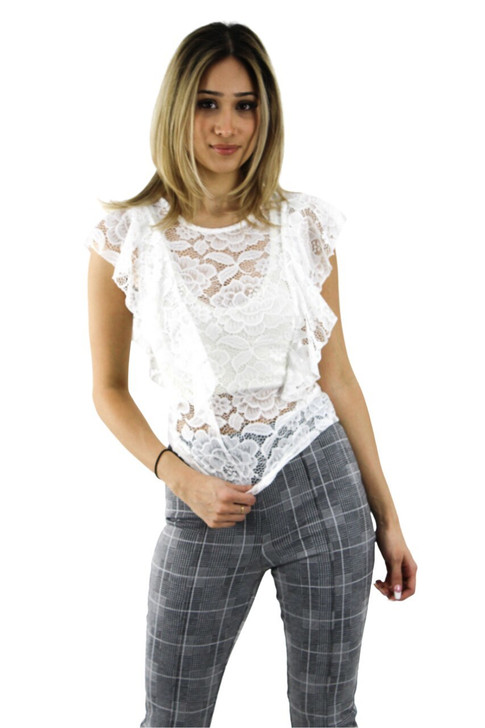White Lace Top 6pcs
