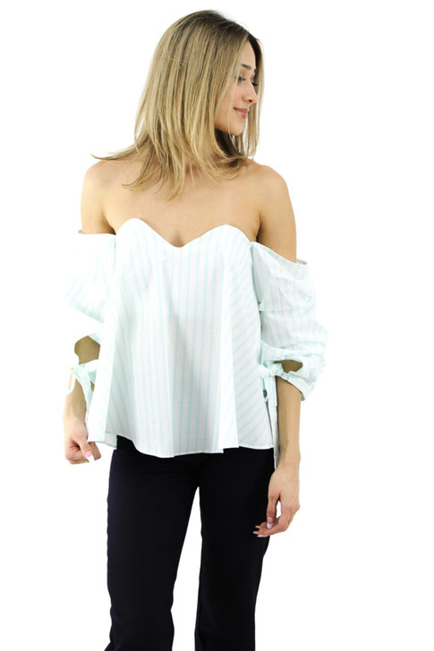 Strapless Top with Bell Sleeve 6pcs
