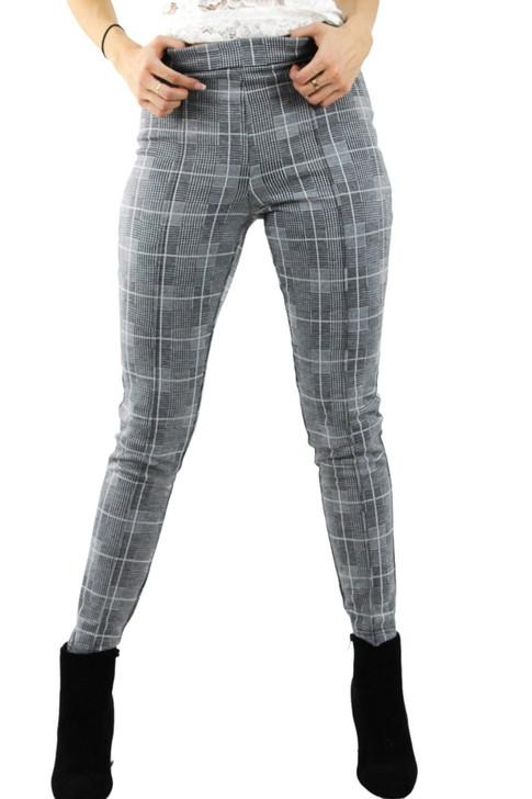 Plaid Skinny Pants 6pcs