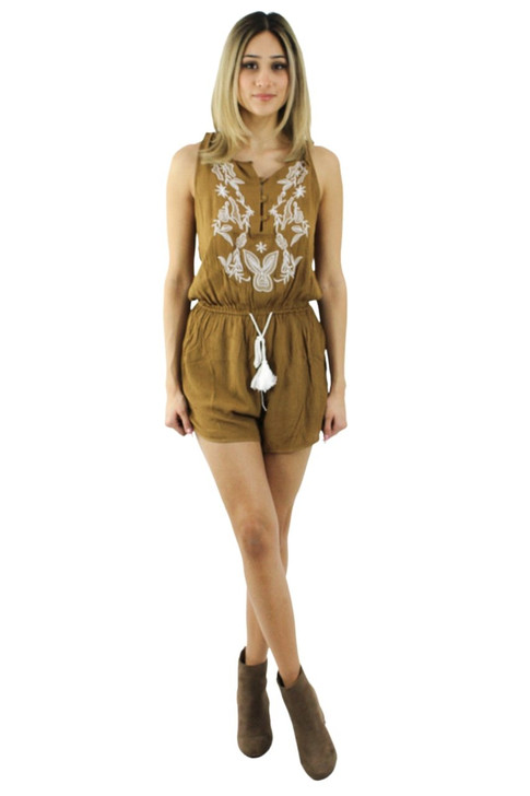 Lounge Romper Playsuit with Buttons and Tie 6pcs