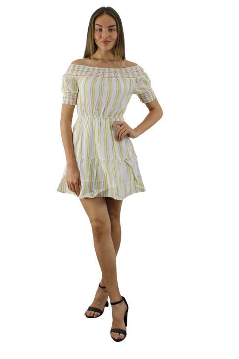 Stripes Short Sleeve Dress 6pcs