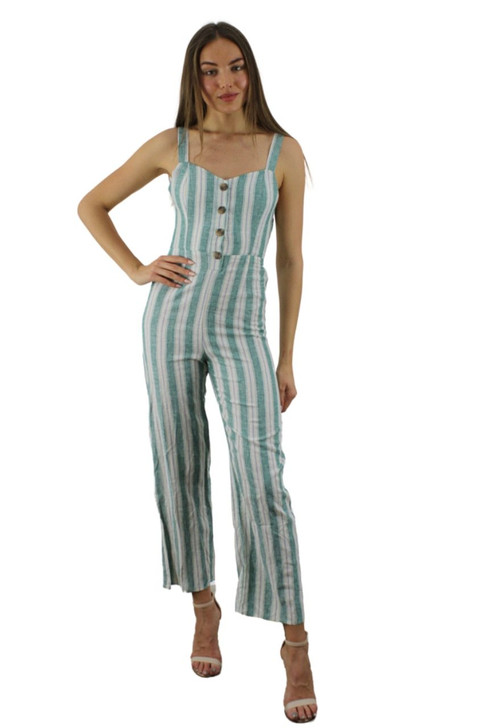 Summer Stripped Button up Jumpsuit 6pcs