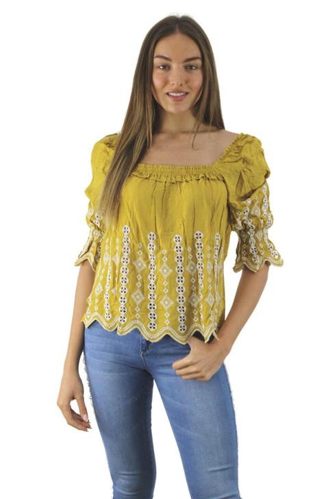Mustard Summer Blouse 6pcs