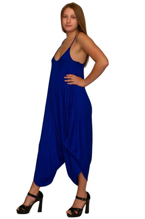 Wholesale Royal Blue Casual Romper Jumpsuit (Front)
