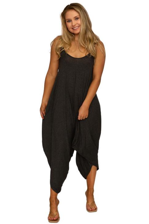 Wholesale Black Casual Romper Jumpsuit (Front)