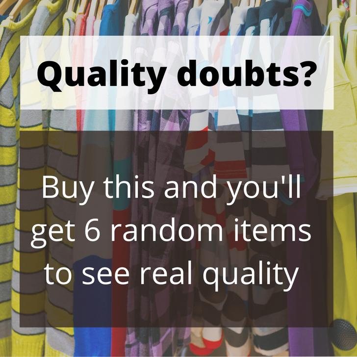 Quality Check Random Pack (6 pcs)