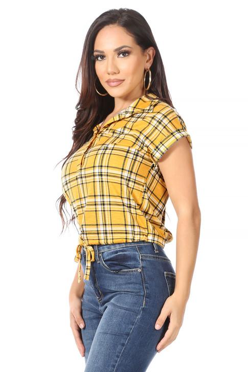 Wholesale Golden Pond Plaid Shirt with Tie  (Front)