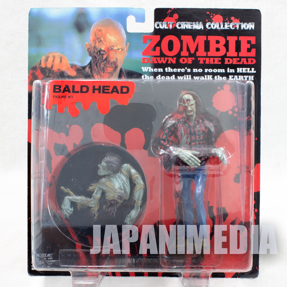 Zombie Dawn of the Dead Bald Head Figure Cult Cinema Collection