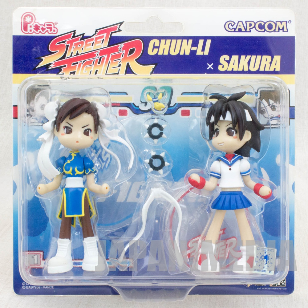 Street Fighters Chun-Li & Sakura P:Chara Figure Capcom JAPAN ANIME