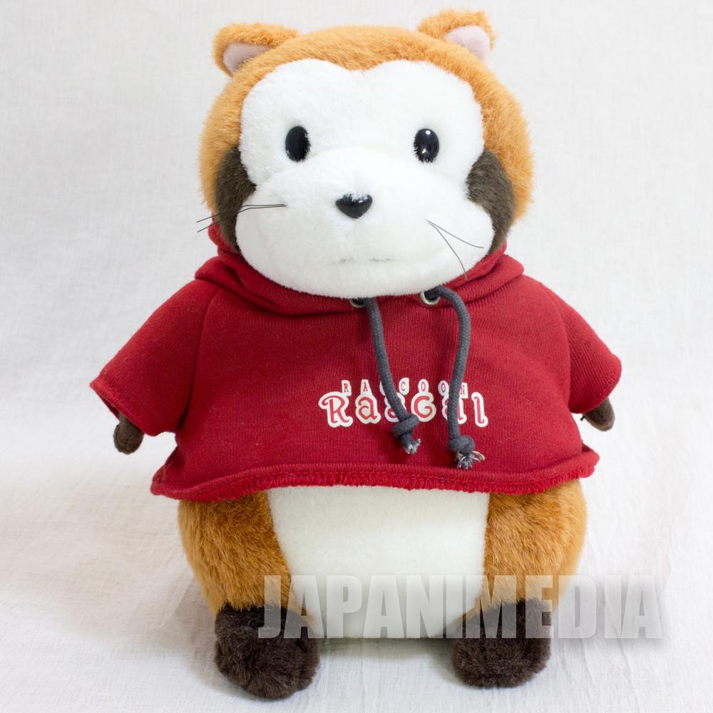 Rascal the Raccoon Red Hoodie Hokkaido Limited Plush Doll Figure JAPAN ANIME
