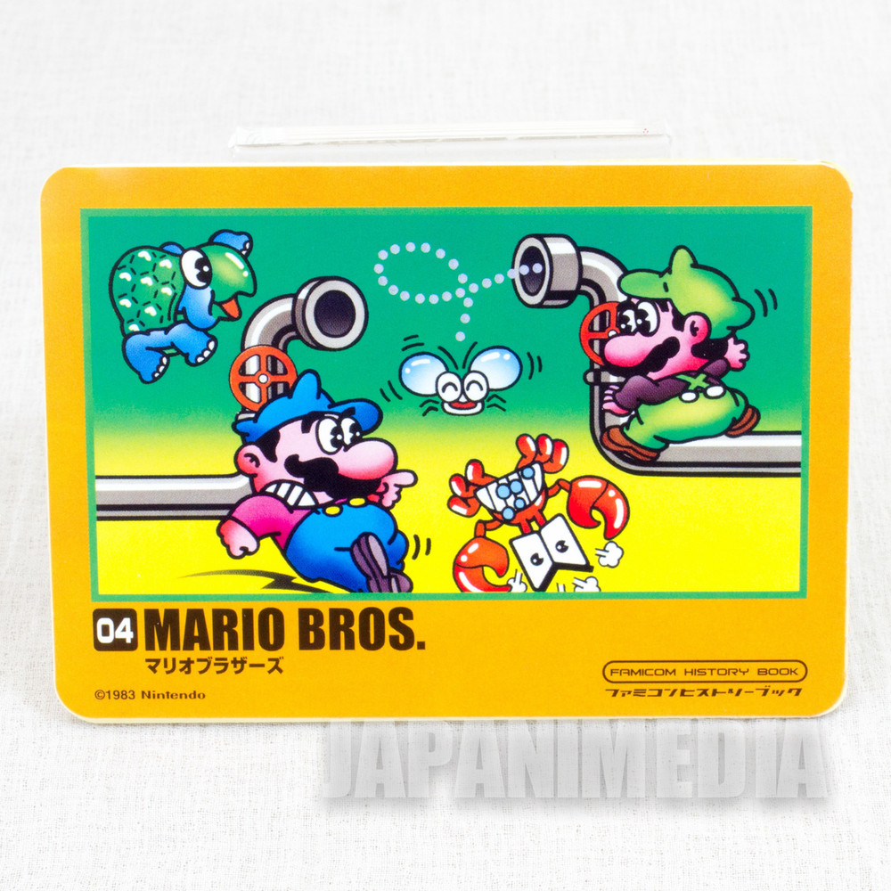 RARE Mario Bros. & Dr. Mario Sticker Famicon History Book JAPAN GAME NES