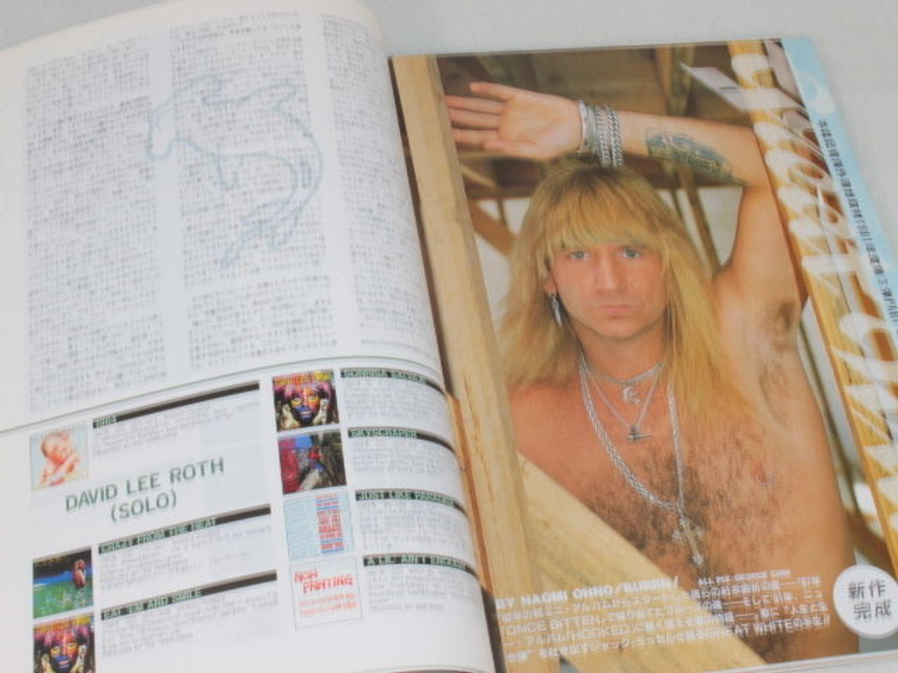 1991 02 Burrn Japan Rock Magazine Bad Moon Rising David Lee Roth Great White