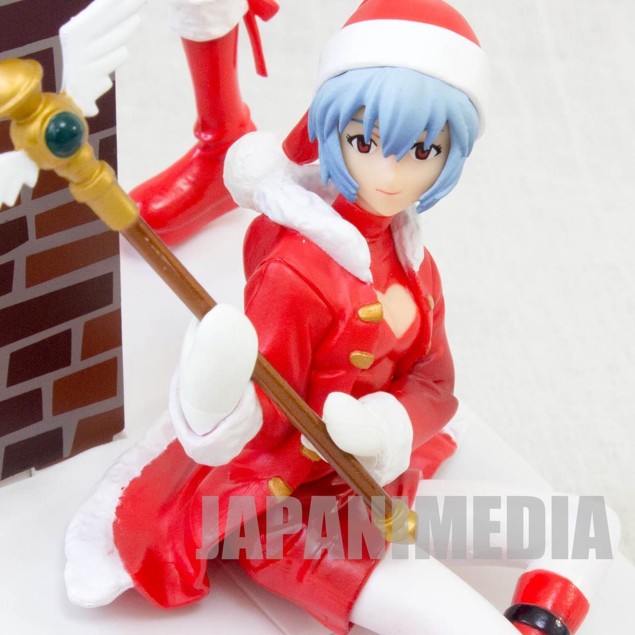 Evangelion Cake Asuka Langley & Rei Ayanami Christmas Santa Figure Bandai  JAPAN