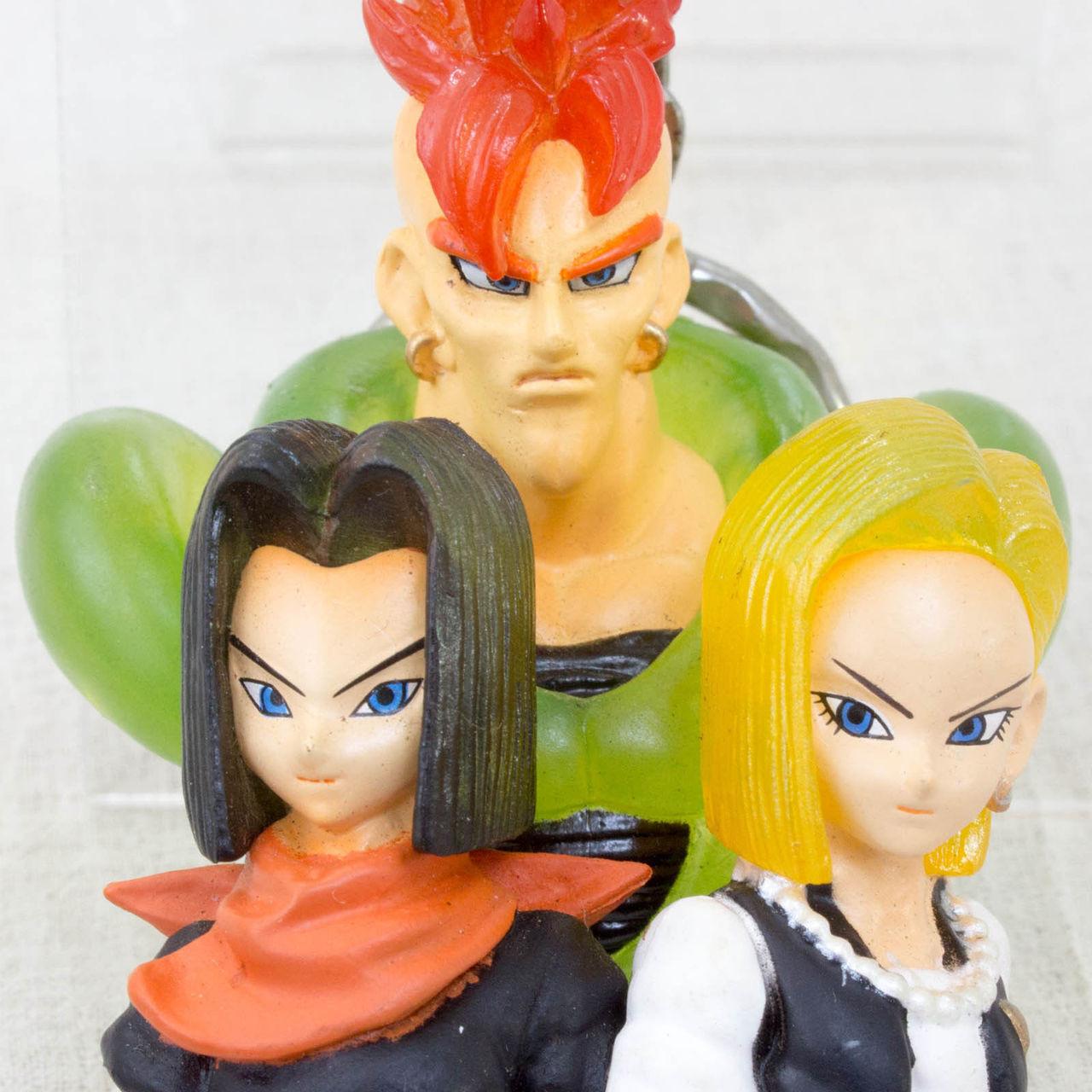 Dragon Ball Z Andoroid 16 17 18 Mascot Figure Clear Type Key Chain Japan Anime