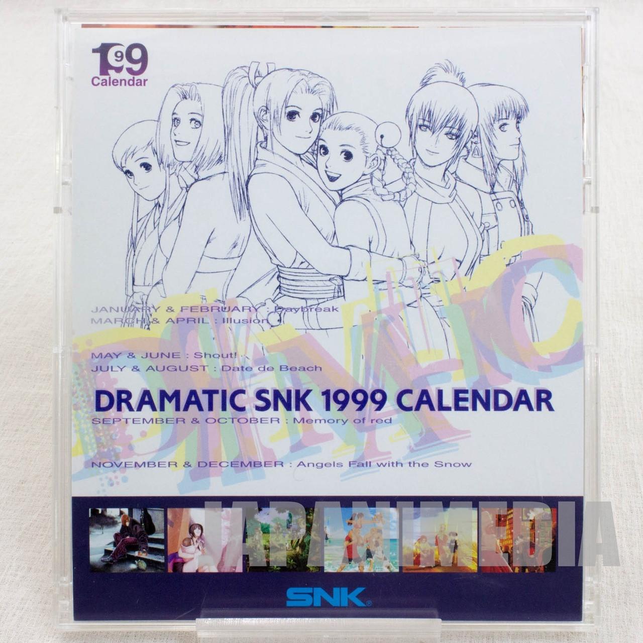 Dramatic Snk 1999 Desktop Card Calendar Japan Neo Geo King Of