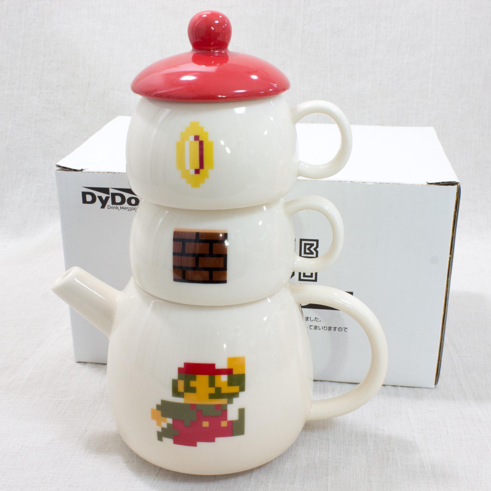 RARE! Super Mario Bros. Pot Tower Mug Set Club Dydo JAPAN GAME NINTNEDO NES
