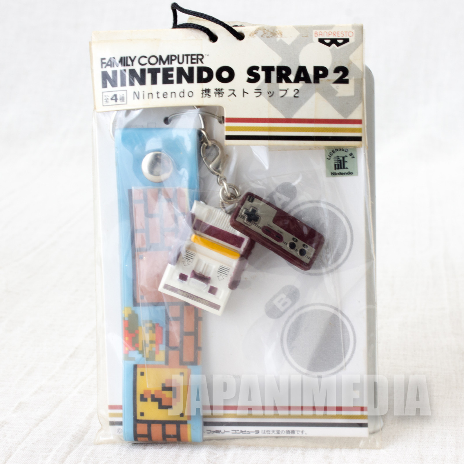 Nintendo Famicom Miniature Figure Strap Super Mario Bros. Ver. JAPAN GAME NES 3