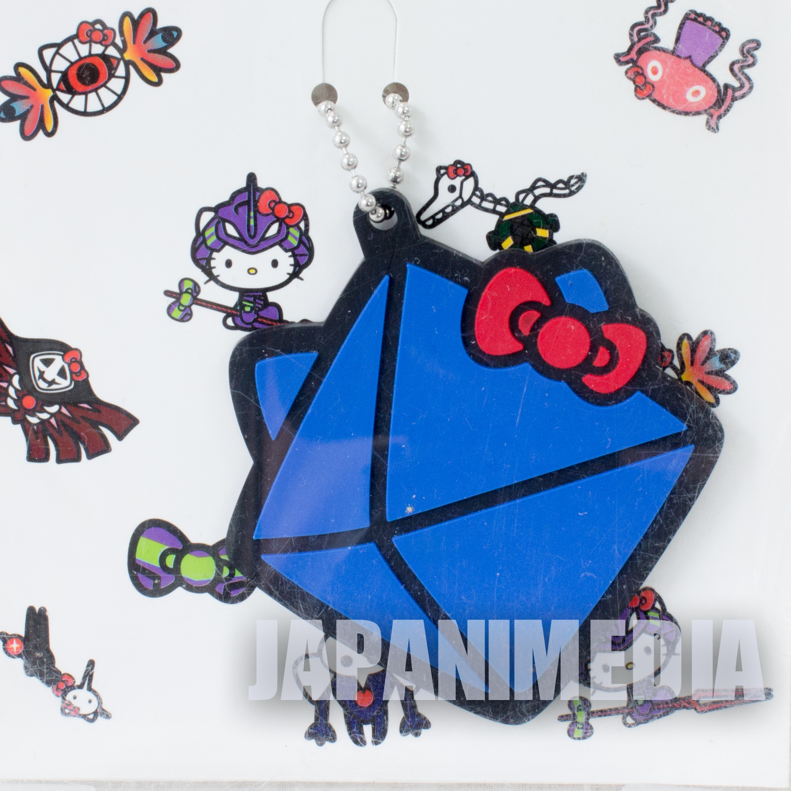Evangelion 6th Angel x Hello Kitty Rubber Mascot Ballchain JAPAN ANIME MANGA