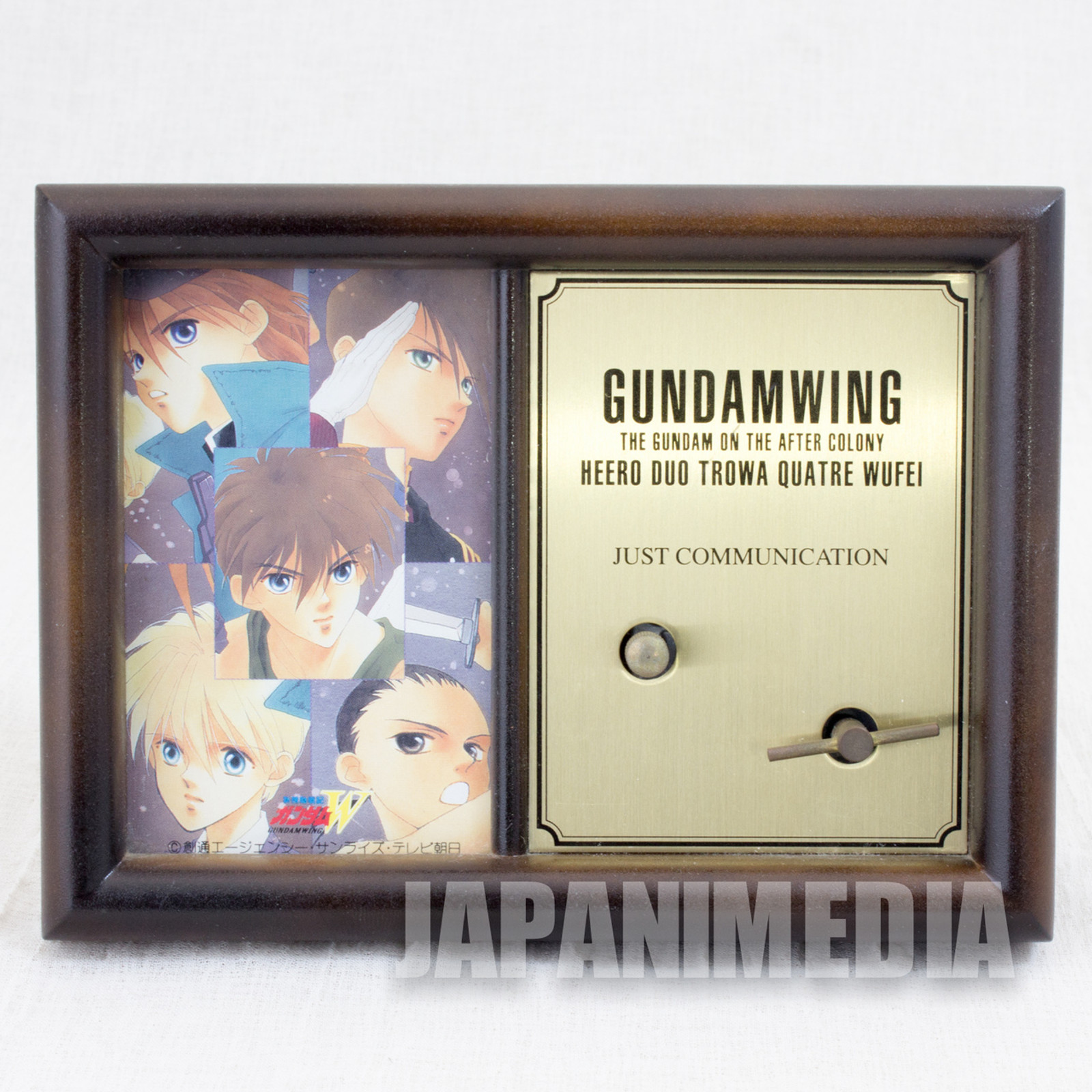 "Gundam Wing Music Box ""JUST COMMUNICATION"" JAPAN ANIME"