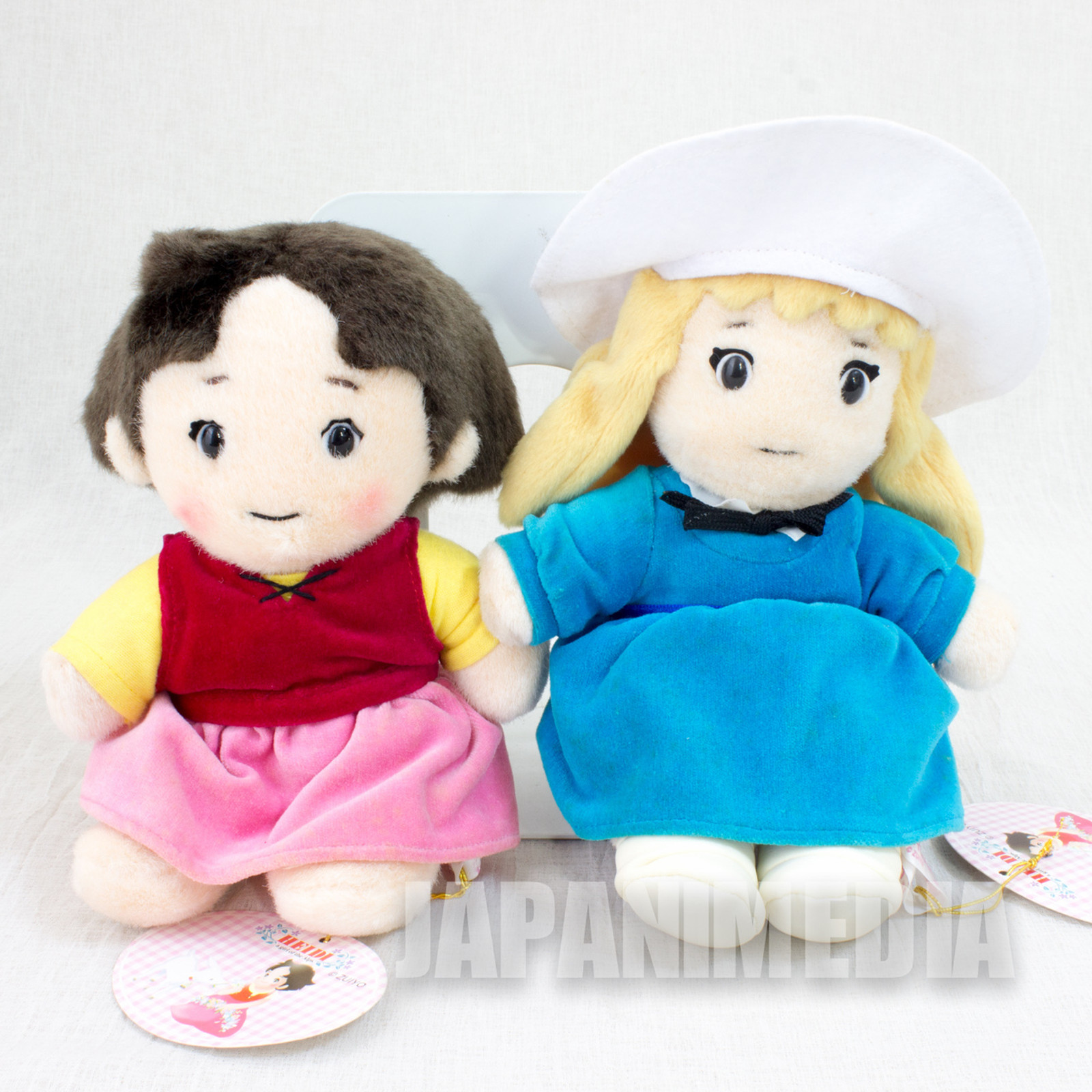 Heidi Girl of the Alps Heidi + Clara Plush Doll Set JAPAN ANIME