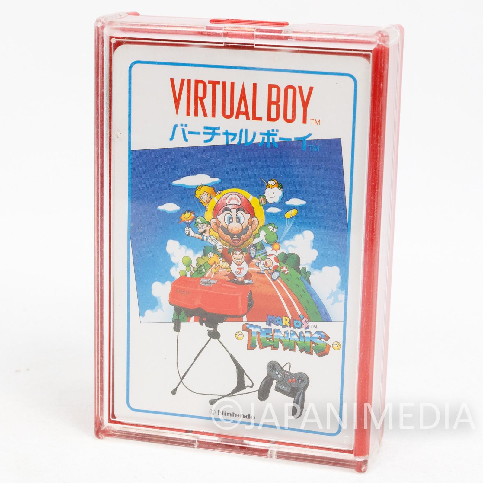 Retro RARE Virtual Boy Mario Tennis Trump Playing Cards Nintendo JAPAN FAMICOM