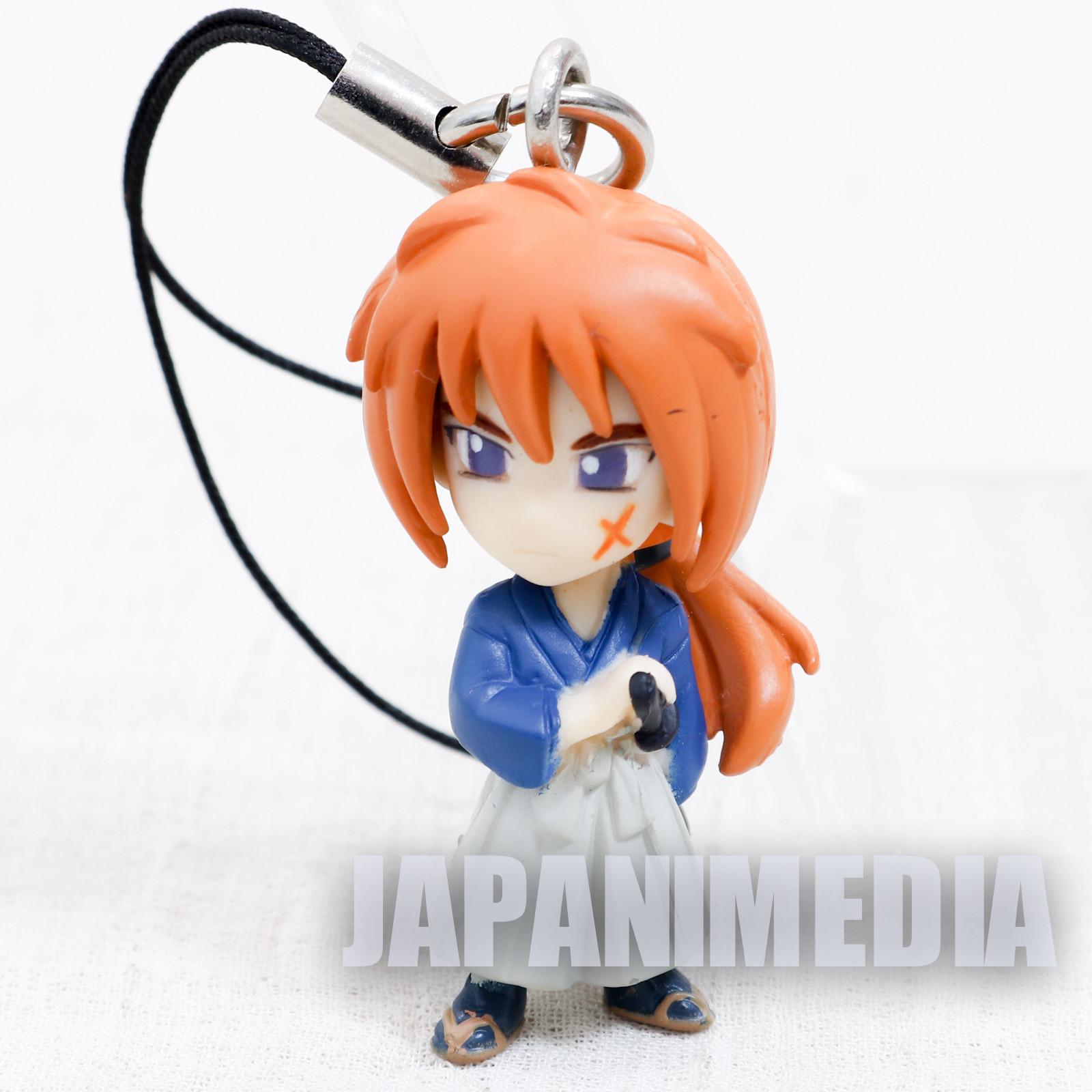 Rurouni Kenshin Himura Kenshin Blue Mascot Figure Strap Bandai JAPAN ANIME