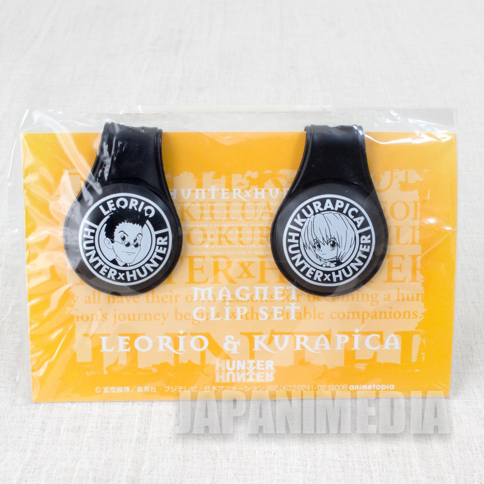 Retro RARE! HUNTER x HUNTER Kurapika & Leorio Magnet Clip Set JAPAN ANIME