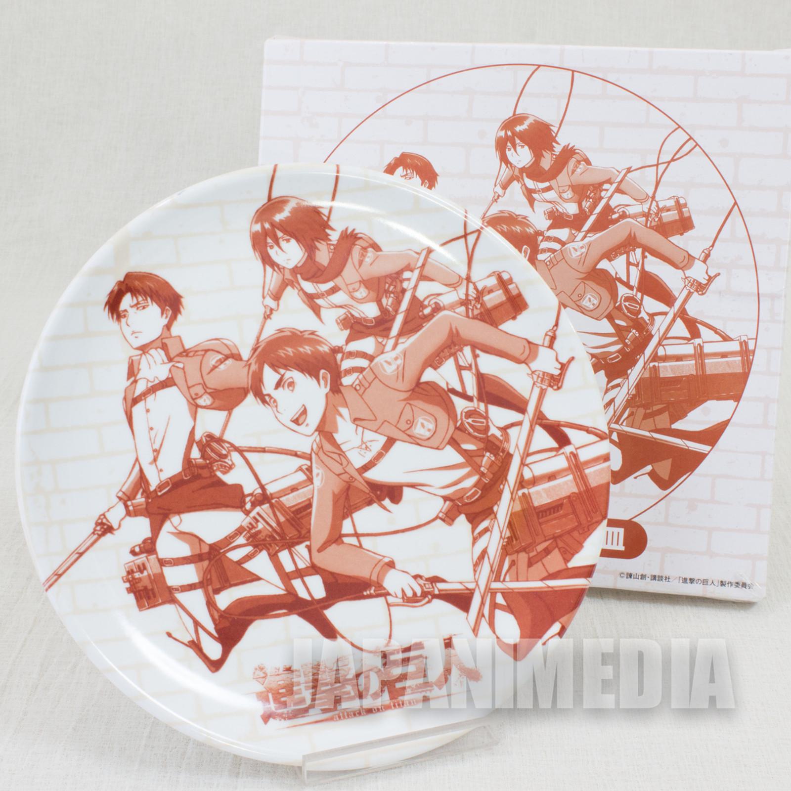 Attack on Titan Melamine Plate Dish Eren Yeager Levi Mikasa Ackerman JAPAN