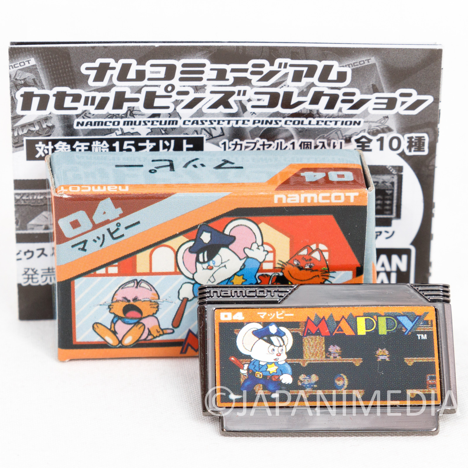 Mappy Namco Museum Cassette Pins Collection BANDAI JAPAN FAMICOM NEC