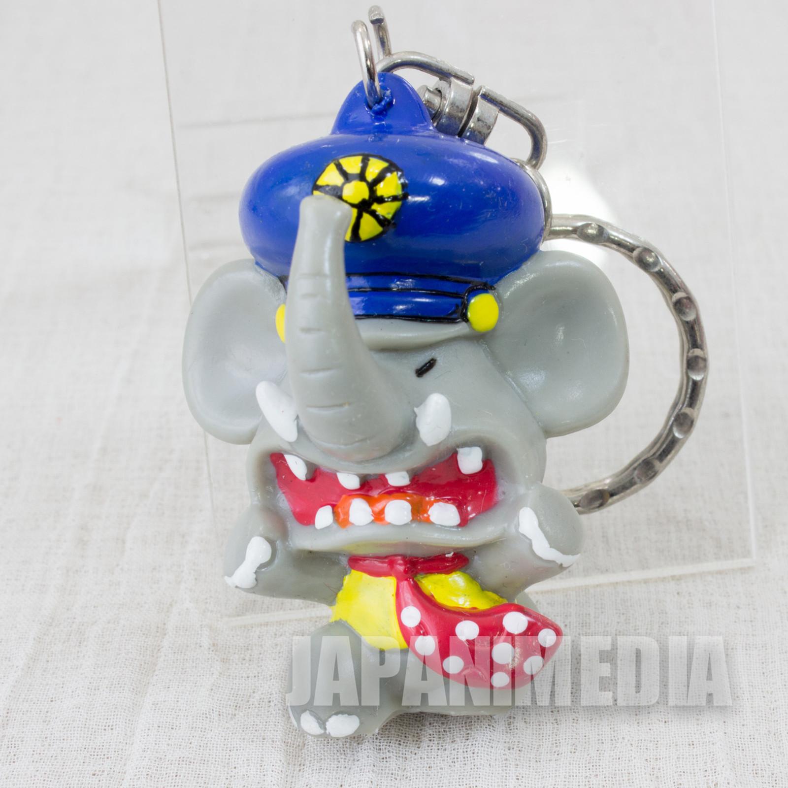 """RARE! Gakideka Komawari-kun """"love African elephants"""" Figure Keychain JAPAN"""