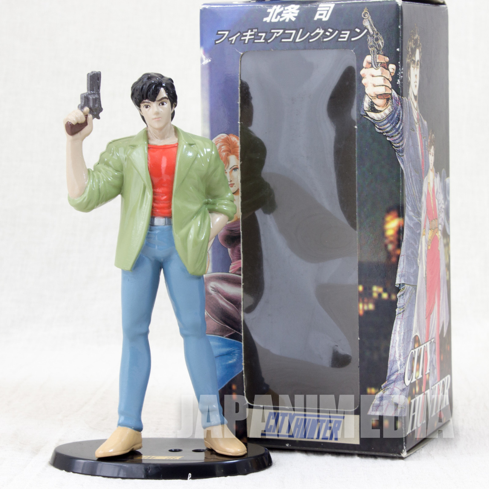 RARE City Hunter Ryo Saeba Mini Figure Hojo Tsukasa JAPAN ANIME MANGA