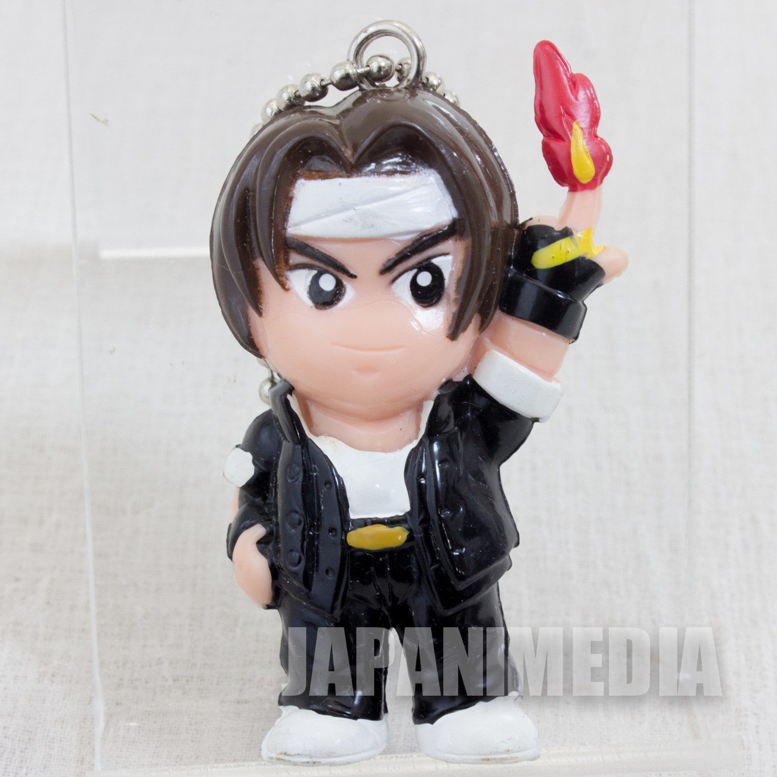 Retro KOF / King of Fighters Kyo Kusanagi Figure Ballchain SNK JAPAN
