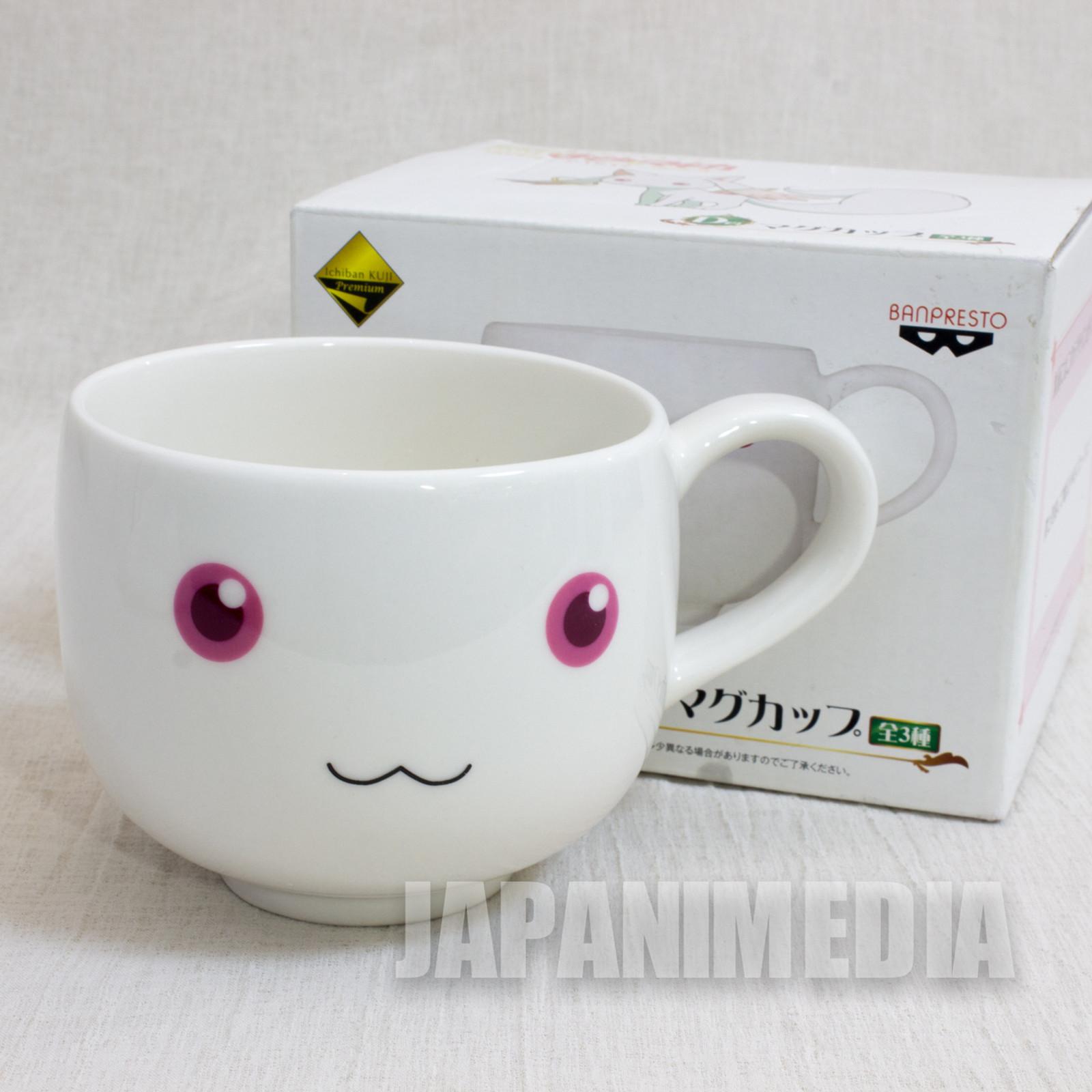 Puella Magi Magica Madoka Kyubey Face Mug JAPAN ANIME MANGA