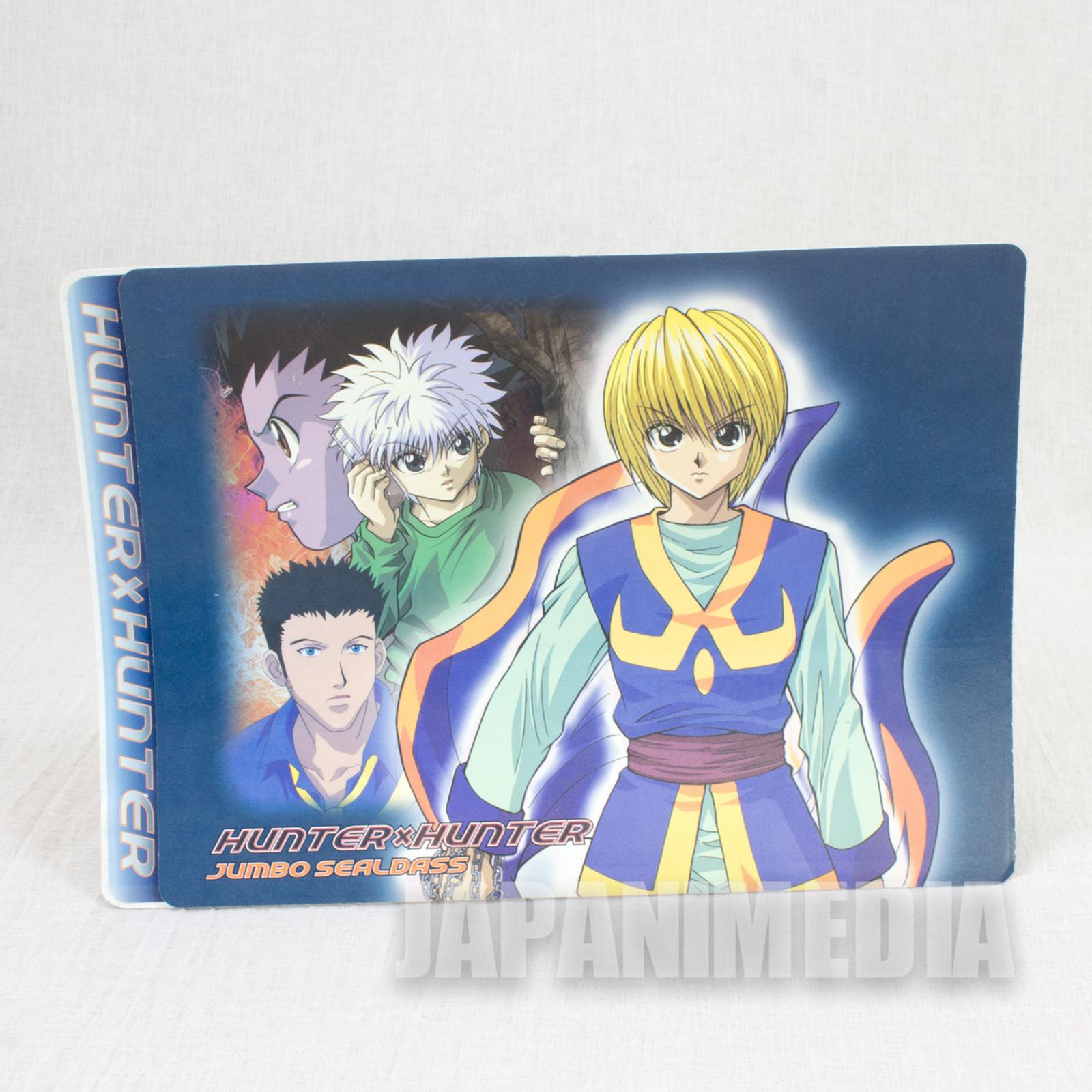 HUNTER x HUNTER Jumbo Sealdass Sticker Kurapika ver. BANDAI 2001 JAPAN ANIME MANGA