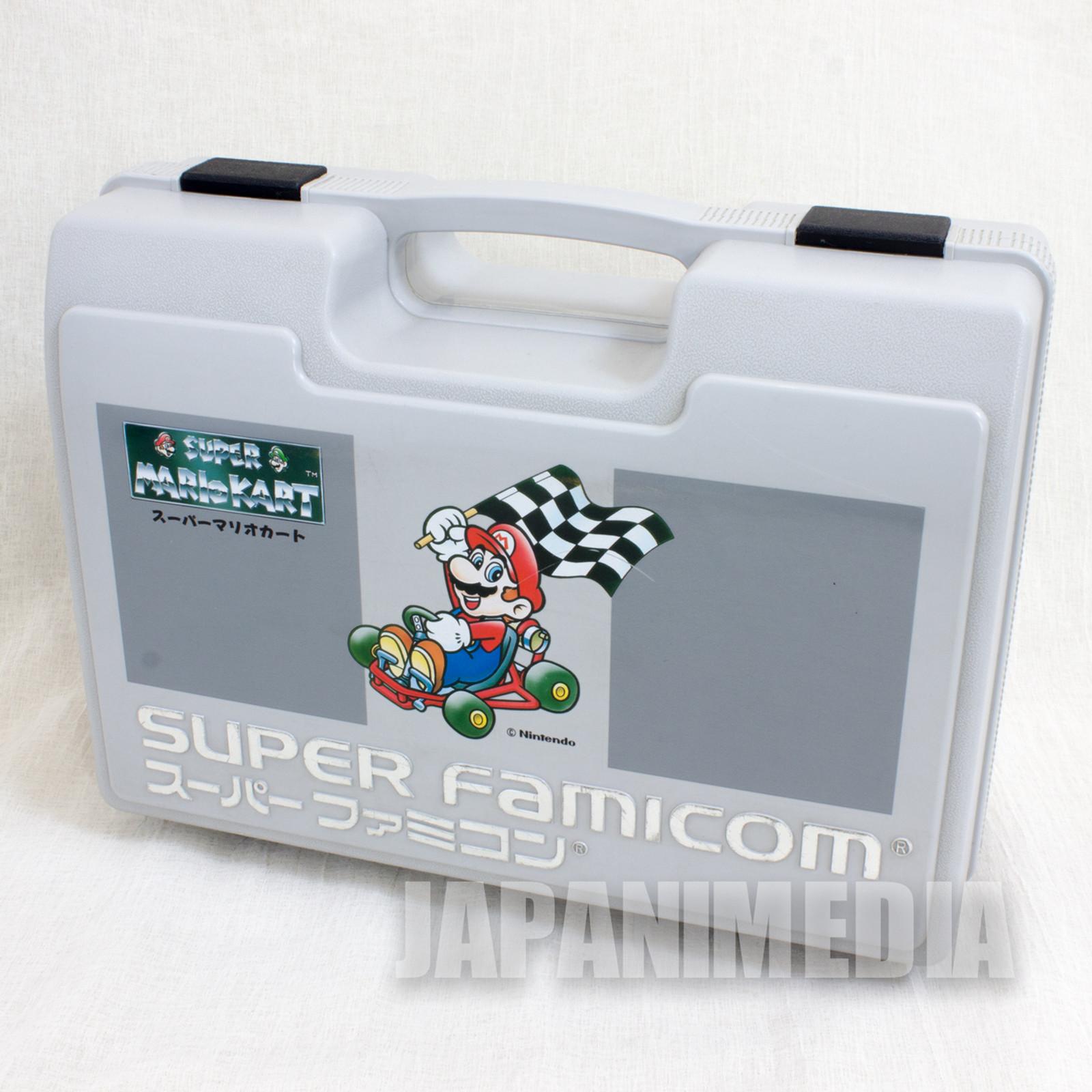 Retro RARE! Super Famicom Mario Kart Cassete Plastic Case JAPAN NINTNEDO SNES