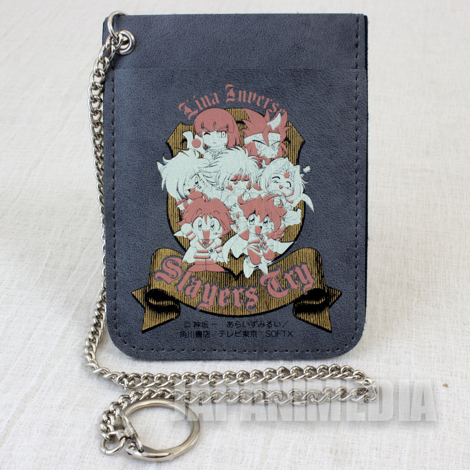 Slayers Try Card Case Holder w/Chain Lina Gourry Ameria Zelgadiss Xelloss ANIME